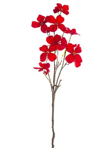 Amazon dogwood silk flower spray in red295 tall home kitchen dogwood silk flower spray in red295quot mightylinksfo