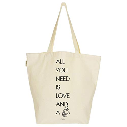 You Eco Sac Tote Imprimé Toile A Need Grand Is Xl Bag Fashion Cabas Unicorn And 37x45x20cm tout All Love Artecita Fourre Bio gqwZdxgF