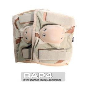Night Crawler Tactical Elbow Pads (Desert Camo) - paintball elbow pads by RAP4