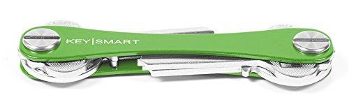 KeySmart - Compact Key Holder and Keychain Organizer (up to 8 Keys, Green)
