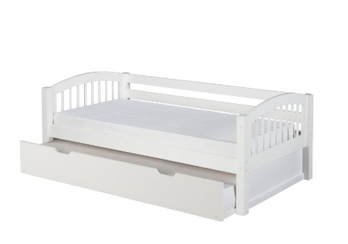 Camaflexi Arch Spindle Style Solid Wood Day Bed with Trun...