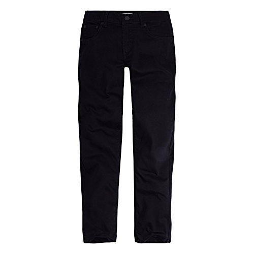 Levi's Big Boy's 502 Regular Taper Jeans Pants, black, 8 (Levi 505 Slim Boys)