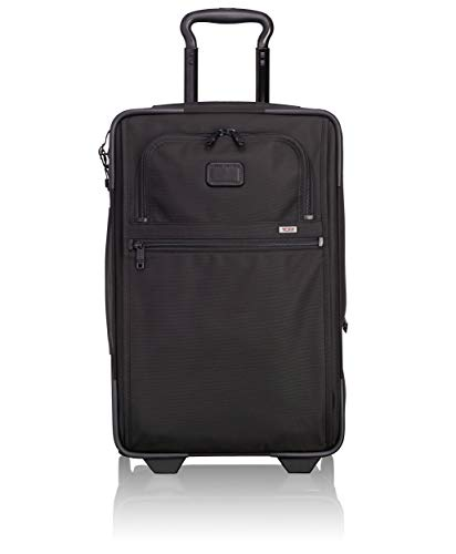 TUMI - Alpha 2 International Expandable Wheeled Carry-On Luggage - 22 Inch Rolling Suitcase for Men and Women - Black