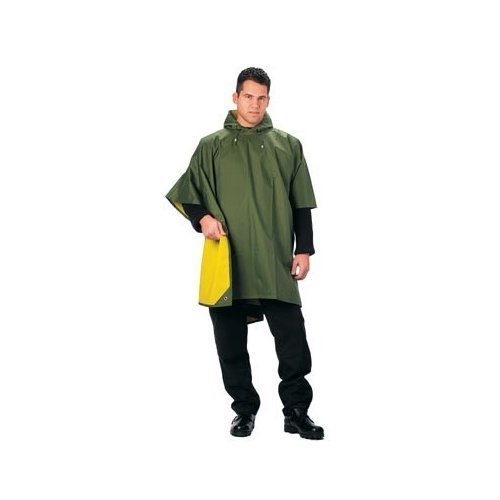 Rubber Poncho - Reversible Rubberized Nylon Poncho