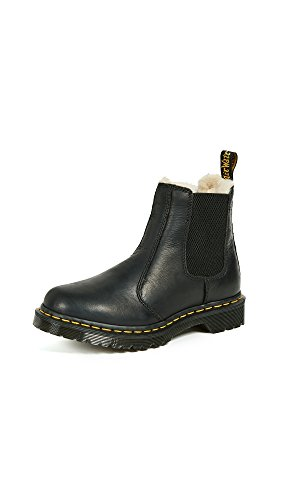 Dr. Martens Women's Leonore Burnished Wyoming Leather Fashion Boot, Black, 9 Medium UK (11 US)