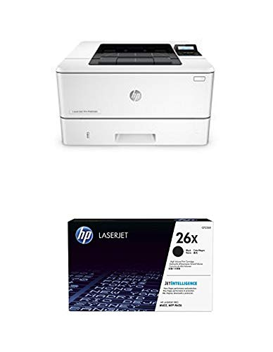 HP LaserJet Pro M402dn Laser Printer with Built-in Ethernet & Duplex Printing (C5F94A) with High Yield Black Toner Cartridge