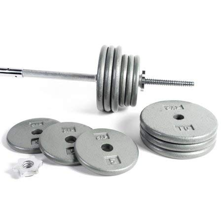 .CAP Barbell Standard 1-Inch Barbell Weight Set, (200 lb)