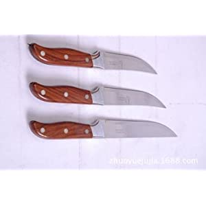 Oliver & Kline 3-Piece Rust Proof and Stain Resistant Ceramic Knife Set of 6-Inch Chef, 5-Inch Slicing and 4-Inch Paring Knives