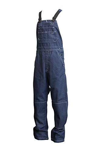 Lapco FR B13FRDN-5XL RG Flame Resistant Bib Overalls, 100% Cotton, HRC 2, NFPA 70E, 13 oz, 5X-Large Regular, Medium Denim Blue by Lapco FR (Image #2)