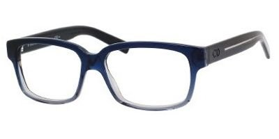 DIOR HOMME Eyeglasses BLACKTIE 150 0M5S Blue Gray Black Crystal - Dior Glass