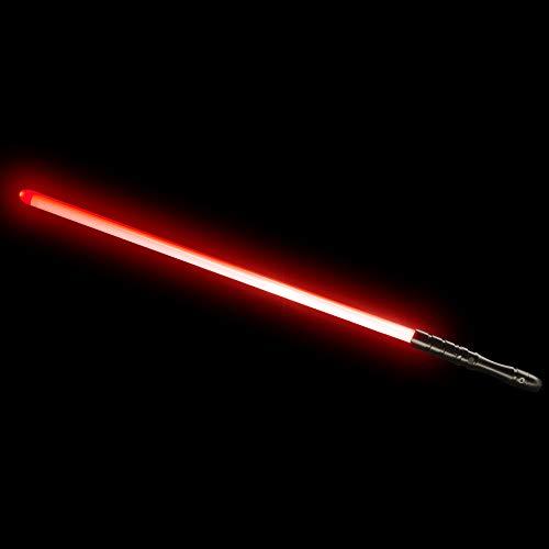 YDD Jedi Sith LED Light Saber, Force FX Heavy Dueling, Rechargeable Lightsaber, Loud Sound High Light with FOC, Metal Hilt, Blaster, Christmas Toy Gift (Black Hilt Red -