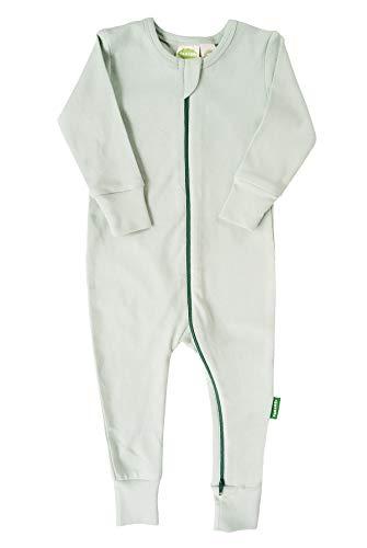 Nile Organic Cotton Bear - Parade Organics Essential Basic '2-Way' Zipper Romper Nile Green 18-24 Months