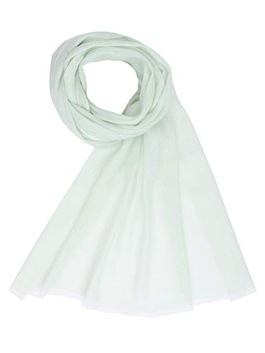- Cashmere Linen Spring Summer Fashion Women's Mens Pashmina Shawl Light Green