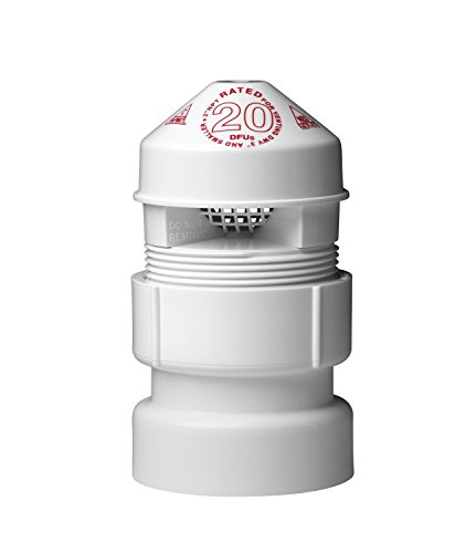 Oatey 39017 Sure-Vent Air Admittance Valve with 1-1/2-Inch by 2-Inch PVC Adapter Bulk Pack, 2-Inch (Vent Wall Plumbing)