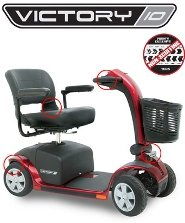 Pride Mobility - Victory 10 - Full-Sized Scooter - 4-Wheel - Viper Blue