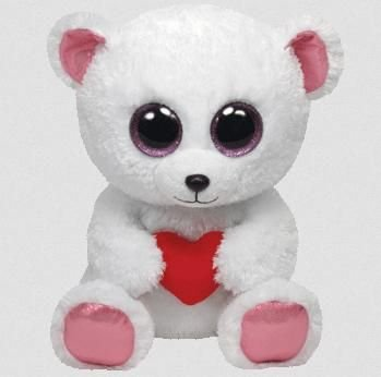 467a3e90edd Amazon.com  Ty Beanie Boos Sweetly - Polar Bear Medium  Toys   Games