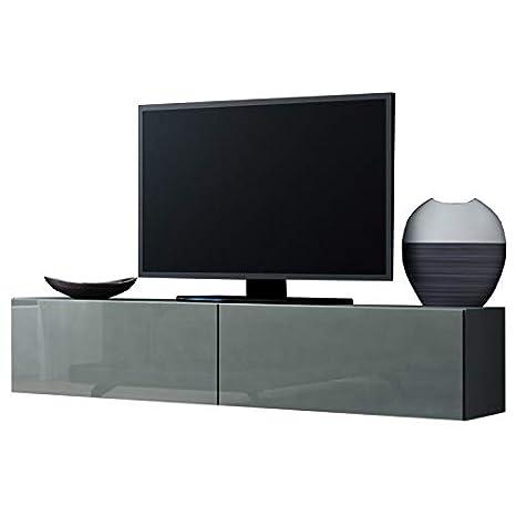 Jadella Tv Board Lowboard Migo Hangeschrank Wohnwand Grau Matt