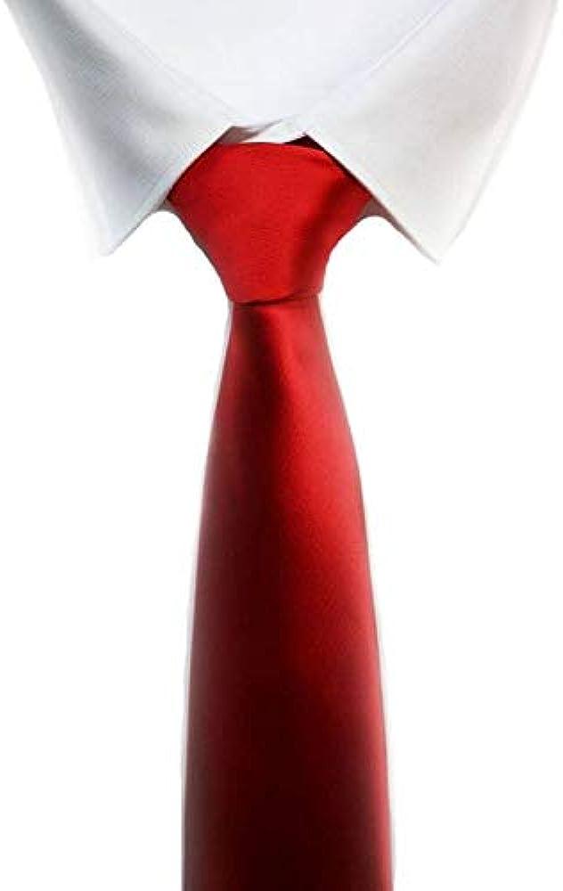 Corbata roja lisa sedosa: Amazon.es: Ropa y accesorios