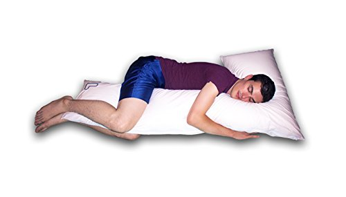 The snuggL Pillow XL - Total Body Pillow, Rated Best Pillow for Side Sleepers, Pregnancy Pillow, Hypoallergenic with Contoured Support System