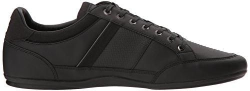 Lacoste Men's Chaymon 118 1 Sneaker, Black/DKGRY, 10.5 M US