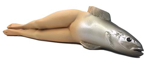 Woman Body with Fish Head Surrealist Statue Figurine Collective Invention by Rene Magritte ()