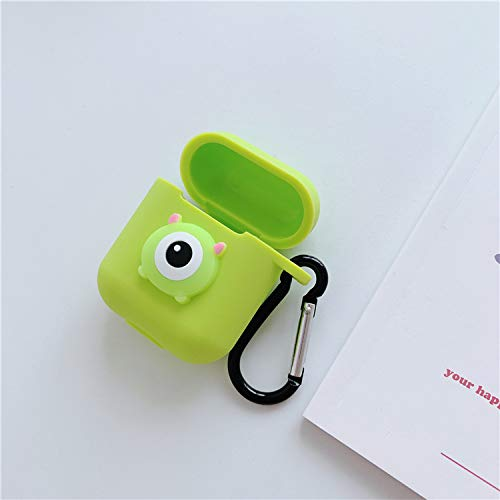 Airpods Case Cute Airpods Case Cute Cartoon Silicone Shockproof Protective Compatible With Apple Airpods 1 Airpods 2 Front Led Not Visible