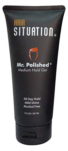 Mr. Polished Gel For Men Medium Hold, Alcohol & Flake Free, No Build Up, Weightless Texture, Enriched With Biotin Vitamin H & E To Protect and Keep Your Hair Healthy & Strong (Best Alcohol For Men)
