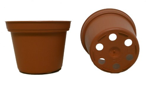 50 NEW 3 Inch Plastic Nursery Pots ~ Pots ARE 3 Inch Round At the Top and 2.25 Inch Deep. Color: Terracotta by seed kingdom