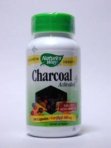 Activated Charcoal - 260mg 100 Caps [Pack of 8]