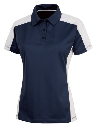 Charles River Apparel Women's Micropique Wicking Polo Shirt, Navy/White, XS by Charles River Apparel