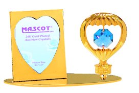 Amazoncom Gold Plated Hot Air Balloon Picture Frame With Blue