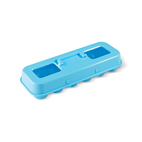 Bakelicious 73901 Cupcake Carton, Plastic Cupcake Carrier, Blue (Egg Cupcake)