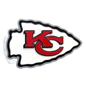 (Kansas City Chiefs Carved Logo Hitch Cover)