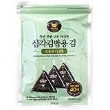 ROM AMERICA INC. Man Jun Onigiri Nori Rice Ball Triangle Sushi Seaweed Wrappers [40 Sheets]