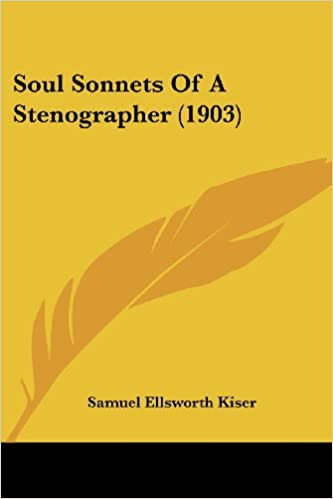Amazon Soul Sonnets Of A Stenographer 1903 9781437028720