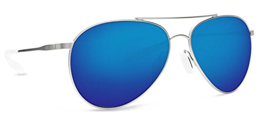 Costa Del Mar Piper Sunglass, Velvet Silver/Blue Mirror - Costa Low Sunglasses Light