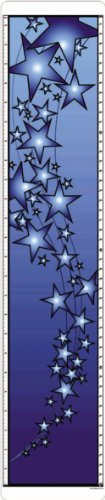 (Bright Blue Stars growth chart measures heights From 24