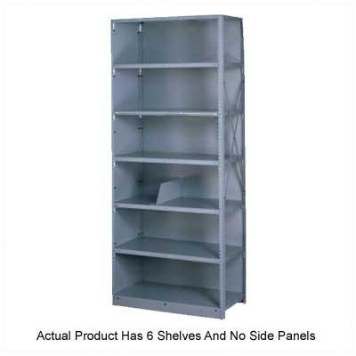 Q Line Open 7 Shelf Shelving Unit Starter Finish: Medium Grey, Size: 87