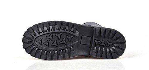 Swnx Informal Cuero Negro Martin Zapatos Talla Negocios Militar Hombre Trabajo 42 A Boots 48 Cordones De 39 Marrón Black 43 Genuino Invierno Black Clásico Con AAYqrW