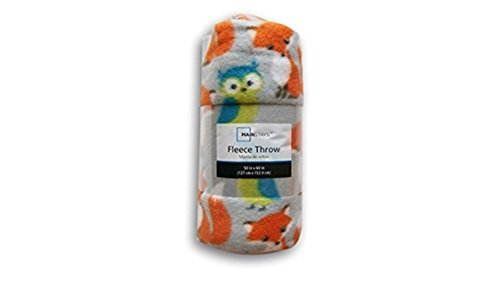 Forest Friends Fox and Owl Fleece Throw Blanket - 50in X 60in by Mainstay