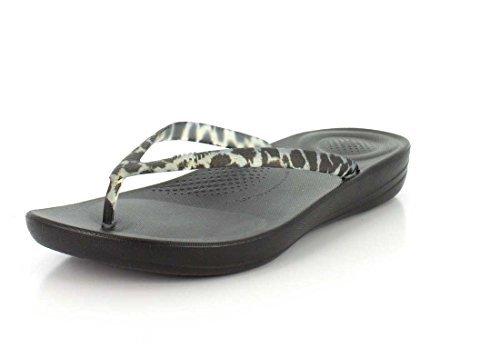 Women's FitFlop, B(M) iQushion Thong Sandals B01LWPNXMD 11 B(M) FitFlop, US|Black Leopard ba8340