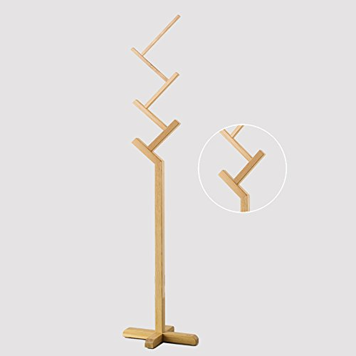 LQQGXLModern minimalist coat rack, Solid wood coat rack coat rack floor hanger bedroom living room hanger (Color : 2#) by LQQGXL