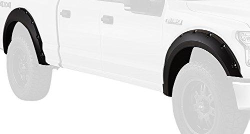 Bushwacker 20935-22 White Platinum Pocket Style Fender Flare for Ford, (Set of 4)