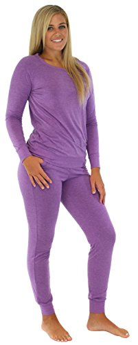 [Sleepyheads Women's Sleepwear Knit Jogger Pant PJ Set Purple SH1760-4004-SML] (Cute Santa Outfits)