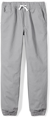 Woven Zebra - Spotted Zebra Big Boys' Woven Jogger Pants, Grey X-Large (12)
