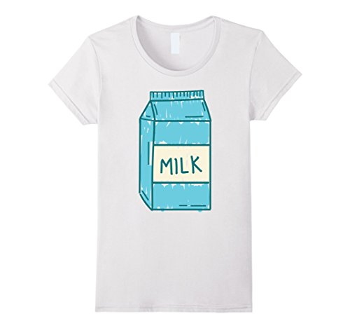 Womens Last Minute Funny Milk Halloween Costume Small White -