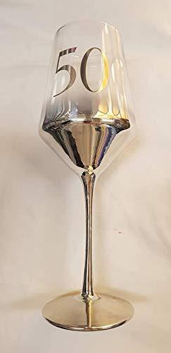 Copa de vino de plata para 50 cumpleaños, algo diferente ...