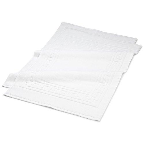 "Superior Hotel & Spa Quality Bath Mats - Set of 2 Bath Rugs, 100% Cotton Bathroom Rug Set, White, 22"" x 35"""