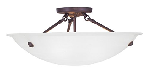Livex Lighting 4274-07 Oasis 3-Light Ceiling Mount, Bronze by Livex Lighting
