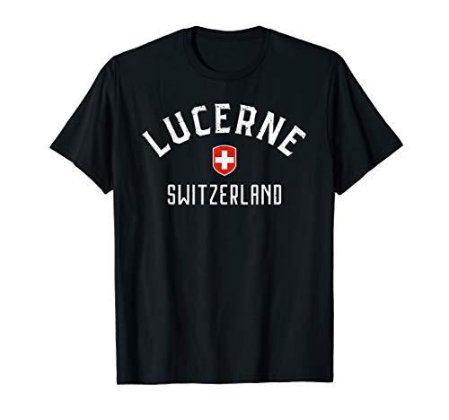 - Lucerne Switzerland T Shirt - Swiss Flag Lucerne Tee